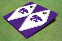 Kansas State University Wildcats White And Purple Matching Diamond Cornhole Boards