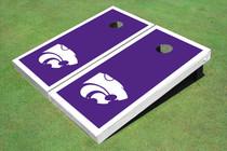 Kansas State University Wildcats White Matching Border Cornhole Boards
