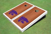 Kansas State University Wildcats White Rosewood Matching Borders Cornhole Boards