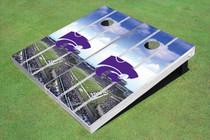 Kansas State University Wildcats Stadium Long Strip Custom Cornhole Board