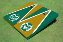 Colorado State University Rams Logo Alternating Triangle Custom Cornhole Board