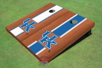 University Of Kentucky Rosewood Alternating Long Stripe Custom Cornhole Board