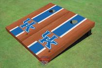 University Of Kentucky Blue Rosewood Matching Long Stripe Custom Cornhole Board