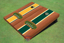 Baylor University Arch Rosewood Alternating Long Stripe Custom Cornhole Board