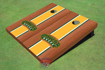 Baylor University Arch Green Rosewood Matching Long Stripe Custom Cornhole Board