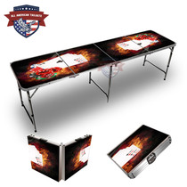 Chips And Cards On Fire 8ft Tailgate Table