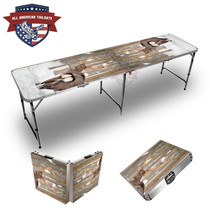 Deer In Snow 8ft Tailgate Table