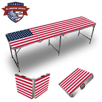 USA Flag 8ft Tailgate Table