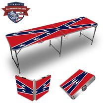 Rebel Flag 8ft Tailgate Table
