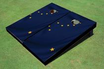 Alaska Flag Cornhole Board