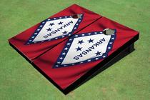 Arkansas State Flag Custom Cornhole Board