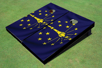 Indiana State Flag Custom Cornhole Board