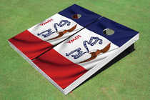 Iowa State Flag Custom Cornhole Board