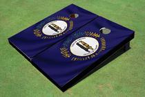 Kentucky State Flag Custom Cornhole Board