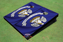 Louisiana Flag Custom Cornhole Board