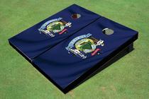Maine State Flag Custom Cornhole Board