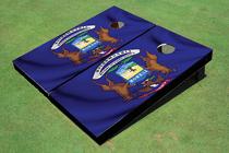 Michigan State Flag Custom Cornhole Board