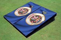 Minnesota State Flag Custom Cornhole Board