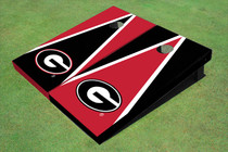 "University Of Georgia ""G"" Alternating Triangle Custom Cornhole Board"