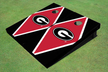 "University Of Georgia ""G"" Red And Black Matching Diamond Custom Cornhole Board"