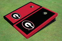 "University Of Georgia ""G"" Alternating Border Custom Cornhole Board"