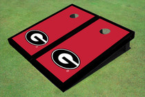 "University Of Georgia ""G"" Black Matching Border Custom Cornhole Board"