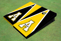 "Appalachian State University ""A"" Alternating Triangle Custom Cornhole Board"
