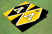 "Appalachian State University ""A"" Alternating Diamond Custom Cornhole Board"