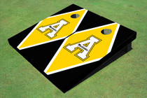 "Appalachian State University ""A"" Yellow And Black Matching Diamond Custom Cornhole Board"