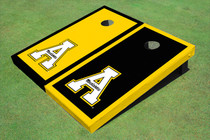 "Appalachian State University ""A"" Alternating Border Custom Cornhole Board"
