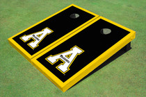 "Appalachian State University ""A"" Yellow Matching Border Custom Cornhole Board"