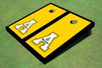 """Appalachian State University """"A"""" Black Matching Border Custom Cornhole Board"""