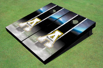"Appalachian State University ""A"" Field Long Strip Matching Black Custom Cornhole Board"