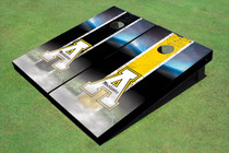"Appalachian State University ""A"" Field Long Strip Alternating Custom Cornhole Board"
