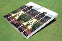 "Appalachian State University ""A"" Stadium Long Strip Custom Cornhole Board"