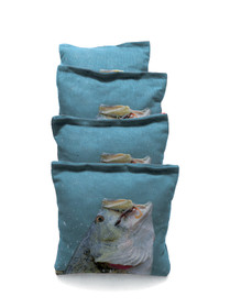 4 Bass Out Of Water Custom Cornhole Bags