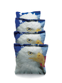 4 Eagle With Flag # 1 Custom Cornhole Bags