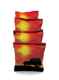 4 Jeep Sunset Cornhole Bags