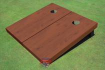 Vermont Stained Solid Border Custom Cornhole Board