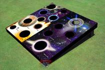 Custom Corn Hole Galaxy And Worm Hole Graphic Custom Cornhole Board