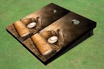 Custom Baseball Glove & Bat Custom Cornhole Board