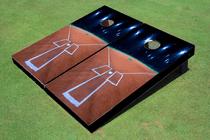 Custom Baseball Field And Lights Custom Cornhole Board
