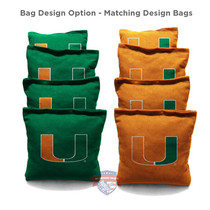 8 University Of Miami Cornhole Bags
