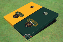 Baylor University Alternating Solid Custom Cornhole Board