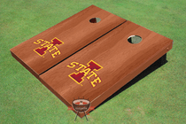 "Iowa State University ""I"" Solid Rosewood Custom Cornhole Board"