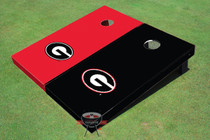 "University Of Georgia ""G"" Alternating Solid Custom Cornhole Board"