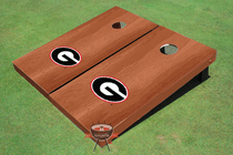 "University Of Georgia ""G"" Solid Rosewood Custom Cornhole Board"