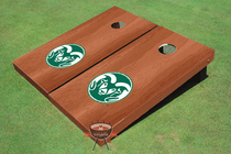 Colorado State University Rams Solid Rosewood Custom Cornhole Board