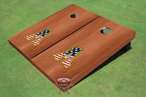 "Appalachian State University ""A"" Solid Rosewood Custom Cornhole Board"