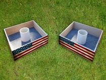 Squared Custom American Flag Washer Toss Set